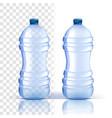 plastic bottle lid blank bluer classic vector image vector image