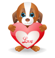 Puppy Love vector image