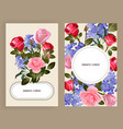 rose cards woman spa cosmetic decoration of red vector image vector image