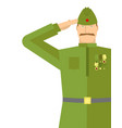 russian veteran soldiers salute retro military vector image vector image