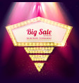 sale banner retro style vector image vector image