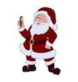 Santa claus with mobile phone vector image vector image