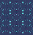 seamless geometric background with hexagons vector image vector image