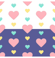 Seamless hearts pattern purple and white vector image vector image