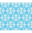 Seamless knitted pattern with snowflakes vector image