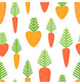 seamless pattern with cartoon carrots vector image vector image