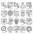 seo icon set in thin line style vector image