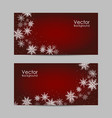 set banners with winter pattern vector image vector image