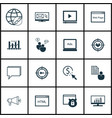 Set of 16 marketing icons includes report market