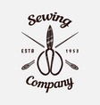 sewing scissors tailor shop badges label tool vector image vector image