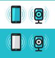 smartphone phone webcam icon communication vector image