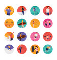 sports and olympic flat icons set vector image vector image