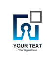 square key hole logo template design vector image
