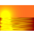 Sunset and water vector image vector image