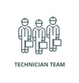 technician team line icon linear concept vector image vector image