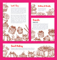 templates for bakery shop cakes dessers vector image vector image