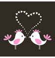 two love birds vector image vector image
