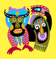 ukrainian ethnic traditional painting fantasy vector image vector image
