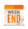 Week End Calendar vector image