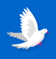 white bird flying vector image vector image