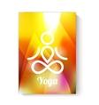 Yoga theme template vector image vector image