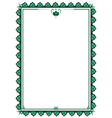 frame with stylized flower vector image