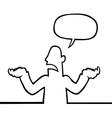 person shrugging vector image
