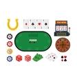 Cartoon Poker Set vector image