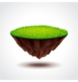 Floating island with green grass vector image