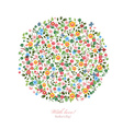 Round pattern of small flowers Mothers day With vector image