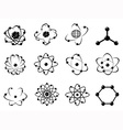 atomic icons vector image