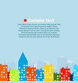 urban colorful landscape vector image