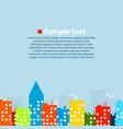 urban colorful landscape vector image