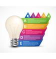 3D light bulb infographics design template vector image
