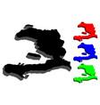 3d map of haiti vector image vector image
