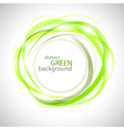 Abstract green rigns vector image vector image