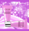 advertising cosmetics cream sparkling background vector image