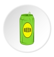 Aluminum beer icon cartoon style vector image vector image