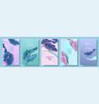 banners set banana tropic leaf vector image