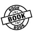 book round grunge black stamp vector image