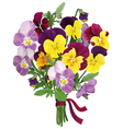 bouquet of colored forget me nots vector image vector image