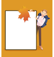 Boy and school board vector image vector image