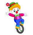 boy uses the circus costume and standing on vector image vector image