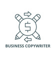 business copywriter line icon business vector image vector image