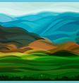 cartoon summer background landscape of the steppe vector image
