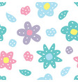 childish seamless pattern with flowers creative vector image vector image