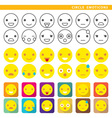 Circle emoticons vector image
