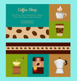 coffee shop set of banners vector image vector image