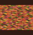 colored brick wall multicolored tiles geometric vector image