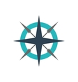 compass instrument nautical icon vector image
